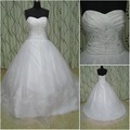 JJ2696  Free Shipping Newest Real Sample  Wholesale Beaded bridal gown 2012