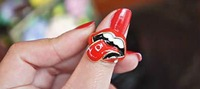 Hot! !Free Shipping fashion Funny mouth ring 16PCS manufacturers wholesale