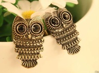 Hot! !Free Shipping fashion Copper and silver color owl ring 16PCS manufacturers wholesale