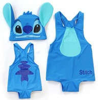 Wholesale 5sets/lot High quality One piece Baby Swimwear Kids' swimsuit for boy Blue Stitch ETYY11 Free Shipping