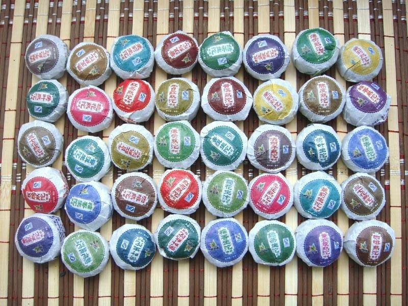 40 kinds Flavour Puer Tea Pu er Slimming Tea Puerh PT35 Free Shipping