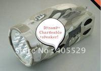Dynamo+Chargeable+LED light+Torch+Digital speaker+SD/MMC Card+USB Disk+FM radio mini speaker!