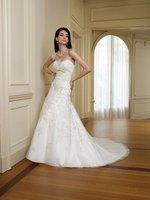 modern wedding dresses Lace sleeveless sweep train 2012 free shipping