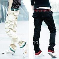 Мужские джинсы 2013 Men's Fashion Slim Fit Korean Classic Straight Washing Jeans Trousers shopping mens pants