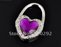 Free Shipping Mix 6 colors Heart Bag Hanger/Heart Purse Hanger/Heart Handbag Hanger .