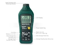 factory wholesale  MS6208B Non-contact Type Digital Tachometer Display Rotation Speeds From 50RPM--99999RPM