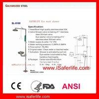 2013 new Polished Safety eye washer and shower equipment 4 emergency shower eyewash station