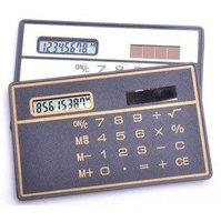 Free shipping wholesales 30pcs/lot Ultra-thin card solar calculators Factory solar energy cheapest Wallet Convenience