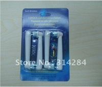 Free shipping DHL 500pack(2000pcs)toothbrush heads with Neutral package