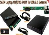 Free shipping! SATA to USB External Slim CD/DVD Optical Drive Enclosure Case enclosure
