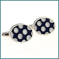 Free Shipping Novelty Copper Cufflinks, Fashion Jewelry Ellipse Cufflinks, New Design Cufflinks With Color Enamel