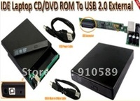Free shipping! IDE to USB External Slim DVD Writer enclosure