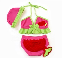 Wholesale 5sets/lot Fashion two pieces Baby Swimwear Kids' beachwear for girls pink ETYY22 Free Shipping