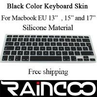 """Black color keyboard protector for macbook 13.3"""" 15"""" and 17"""",  keyboard cover for EU version macbook, without retail packing"""