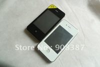 "2013 dual 2 sim 3.2"" i9 4g F8 TV WIFI OPTION BLACK WHITE color the cheapest touch screen mobile Cell Phone free shipping"