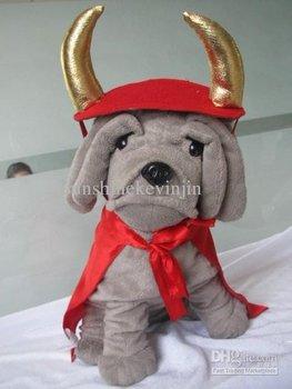 Dog cape manteau cloak mantle and headband double layet 2pcs/sets, 3 color size L M S