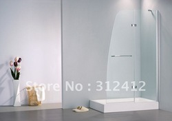Tempered safety Glass Bath screen shower door with hinge door(China (Mainland))