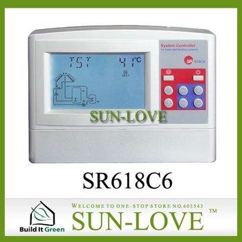SR618C6 Solar Controller,Solar Water Heater Controller,Solar Collector Controller,Pump Station Controller,110V/220V,LCD Display