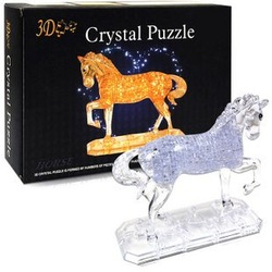 Candice guo! New arrival hot sale 3D crystal puzzle running horse model DIY funny game creative gift 1pc(China (Mainland))