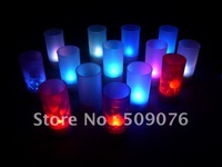 Free shipping 36pcs/lot light up candle light led projection candle light for wedding supplies
