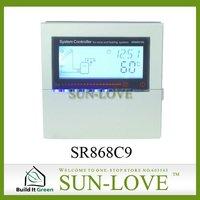 SR868C9 Solar Working Station Controller,Pump Station Controller,Solar Collector Controller,110V/220V,LCD Display