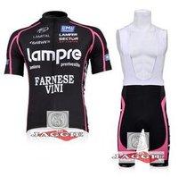 Free shipping+top Polyester +pad COOMAX+2010 black Lampre Cycling Jersey+BIB SHORTS Bike Sets Clothes Cycling wear/bike wear