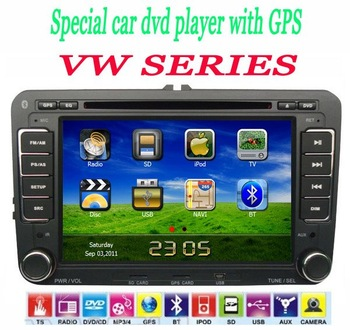 2DIN Indash Car Audio for Volkswagen Passat GOLF POLO PASSAT CC JETTA TIGUAN TOURAN EOS SHARAN TRANSPORTER Caddy!Free map!