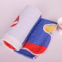 FreeShipping-Cartoon Football baby/boy/children 100% cotton summer quilt child quilt size-110*130CM