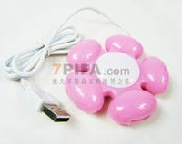 free shipping HI-SPEED USB 2.0 4 port USB HUB flower shape usb hub