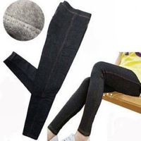 Pluz size Warm Legging Pants Jeans blue and black+ Cheaper price + Free Shipping Cost + Fast Delivery