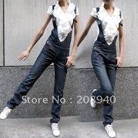 2012 Wholesale Popular Denim Casual Woman's Suspender Jean Coveralls Workwear