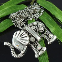 Promotions! Free Shipping Retro fashion Elephant necklace 5PSC