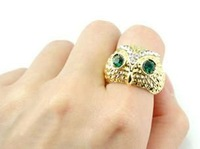 Hot!Promotions!Fashionable Cute Owl ring 15PCS