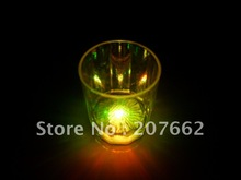 Free shipping 288pcs/lot 60ml/2oz 6*5*4cm color changing led plastic flashing cup led beer mug flash small cup for party