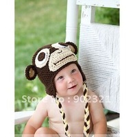 Wholesales,hot selling,freeshipping,Baby beanies,20pcs/lot mix color ,100% handmade animal hat,crochet hats,knitted beanies,