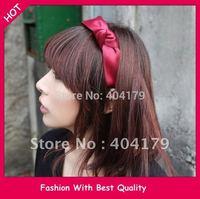 Freeshipping Wholesale Fashion santi ribbon bow headband hairband color assorted 3cm 12pc/lot