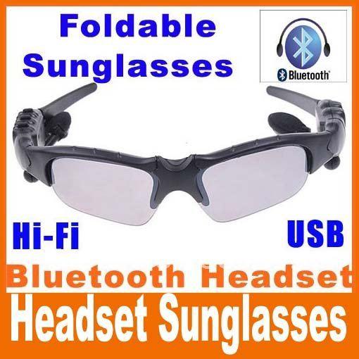 HIFI Bluetooth Headset Sunglasses for Cell phone Wireless Earphone Headphone bluetooth earphone wireless headphone free Shipping(China (Mainland))
