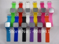 DHL/EMS Free Shipping+Led Mirror watch,silicone watch,Mirror wrist quartz watch,50pcs/Lot