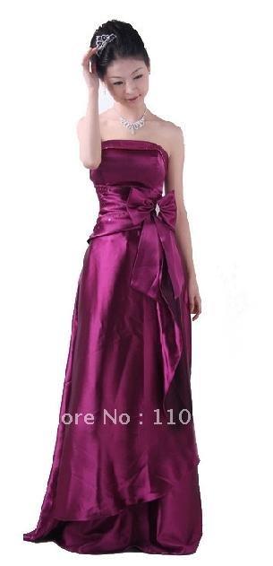 2012 free shipping Purple dress a bridesmaid dress wedding dress evening