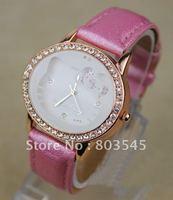 100PCS/Lot Free New Arrival HelloKitty Watches Fashion Watch Quartz Watch with diamond wristwatch Lady Girl Wrist Watch A-419