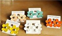 Free shipping +12pcs/lot,flower earrings,sunflower earrings/stud earrings/(E-43)