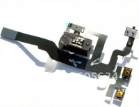 Headphone Audio Jack Power Flex Cable Replacement For iphone 4S