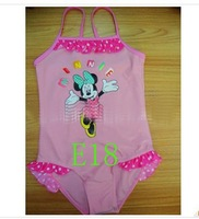 Wholesale-8pcs New pink Swimsuits girl Swimwear Children's swimwear kids beachwear girls suits baby swimming wear CL307