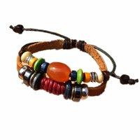 ZF2-13-free shipping(10 pcs per lot)!wholesale & retail 2012 leather beaded  women's fashion wristband