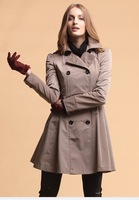 2011 wholesale free shipping New Women's Classic Trench Coat