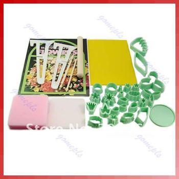 D1932Pcs Gum Paste Cake Flower Set Tool Cutter Maker Mold