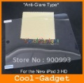 For New iPad Screen Protector, anti-glare matte screen protector film for the New iPad 3 HD No retail package 200pcs/lot MSP415A