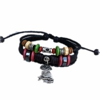 ZF2-21-free shipping(10 pcs per lot)!wholesale & retail 2012 fashion cute 100% owl charm bracelet  leather items