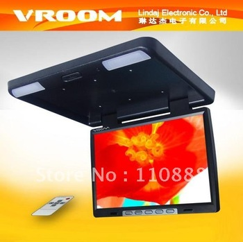 FREE SHIPPING.Flip down TFT LCD Monitor for 2012 European Football Cup & Olympic Games in car or at home ?Crazy sales.