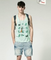 Мужская майка new brand high quality mens tank tops sexy slim vests and retail A237